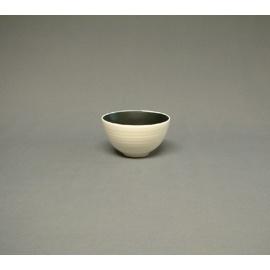 Bol à thé BLANC intérieur NOiR en céramique japonaise (d9.5cm)