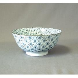 Bol à soupe BLUE MiX asanoha en porcelaine japonaise (d15.5cm)