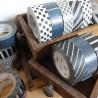 masking tape 2P WiDE stripe silver x dot gold (stries argentées x pois dorés) 30mm*10m (x2)