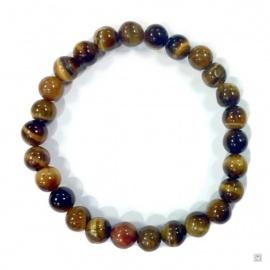 Bracelet perles en OEiL de TiGRE 6mm