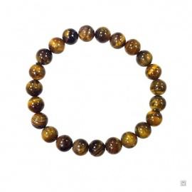 Bracelet perles en OEiL de TiGRE 8mm