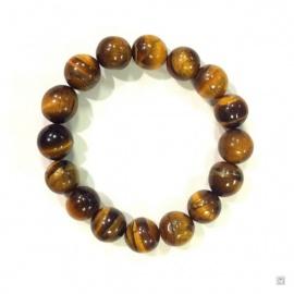 Bracelet perles en OEiL de TiGRE 12mm