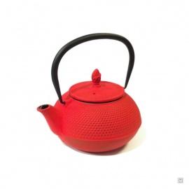 Théière ARARE en fonte japonaise (0.80L) rouge