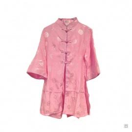 Ao-dai enfant brocart LONGéViTé rose