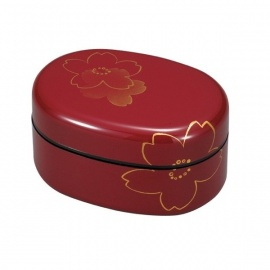 Bento SAKURA ovale rouge 650ml