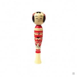 Dentō-kokeshi style Sakunami par Akira SUZUKi (h18cm)