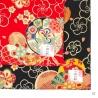 Furoshiki 風呂敷 FLEURS de PRUNiER rouge 100% coton
