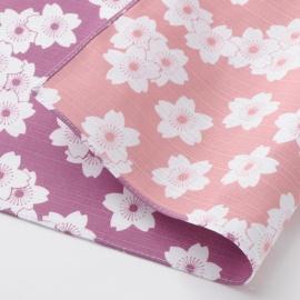 Furoshiki 風呂敷 SAKURA violet / rose 100% coton (104x104cm)