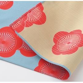 Furoshiki 風呂敷 UME bleu turquoise / beige 100% coton (104x104cm)
