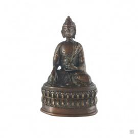 Bouddha ShAKYAMUNi en laiton (h13.5cm)