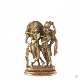 Krishna et Rhada en laiton (h7.5cm)