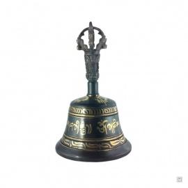 Gantha en laiton peint à l'or fin (h15.5cm)