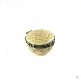 Boîte ronde ECAiLLES en os de buffle