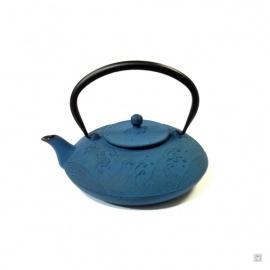 Théière NAMi en fonte japonaise (0.70L) bleu