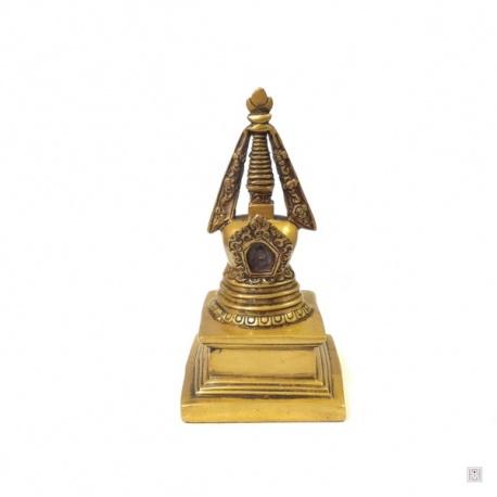 Stupa en laiton (h19cm)
