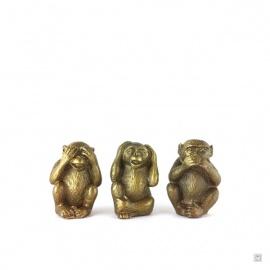 3 singes en cuivre (h4.5cm)