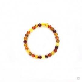 Bracelet pour bébé en AMBRE multicolore 5mm