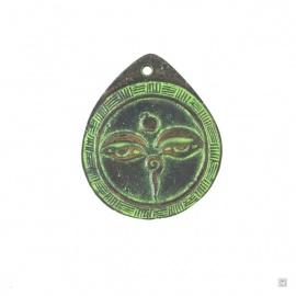 Pendentif YEUX de BOUddhA en laiton (h5.5cm)
