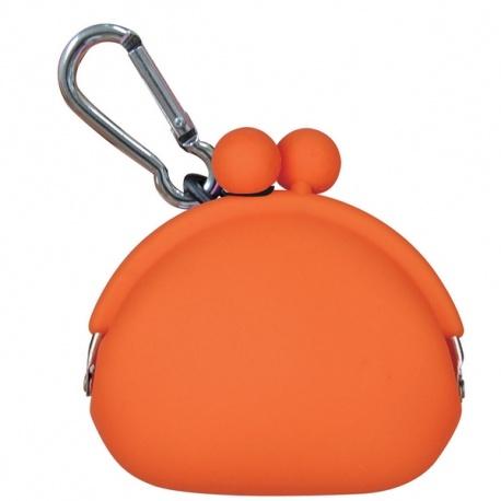 Porte-monnaie POCHiBi en silicone orange