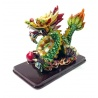 Dragon sur nuages en résine peint à la main (h10cm)