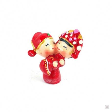 Jeunes mariés chinois COiFFE (h6cm)
