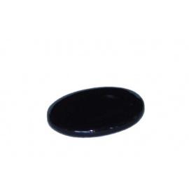 Socle porcelaine ovale noire 6*5cm