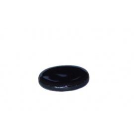 Socle porcelaine ovale noire 3.8*3cm