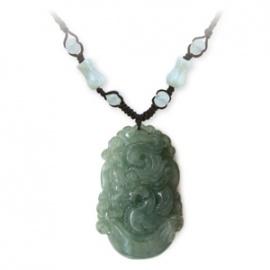 Pendentif ZODiAQUE ChiNOiS en jade aventurine (Boeuf / Buffle) h3.5cm