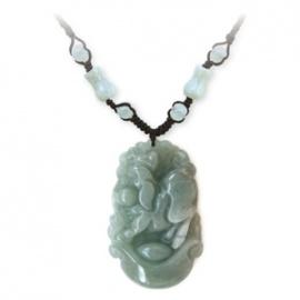 Pendentif ZODiAQUE ChiNOiS en jade aventurine (Cochon / Sanglier) h3.5cm