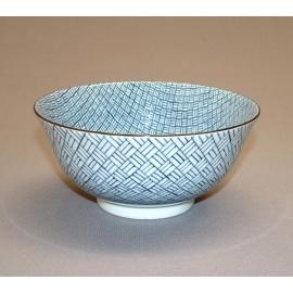 Bol à soupe BLUE MiX kago en porcelaine japonaise (d15.5cm)