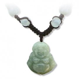 Pendentif Bouddha HOTEi (Prospérité) en jade aventurine (Prospérité)