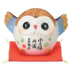 Chouette FUKURO (梟) en porcelaine japonaise AMiTié (h5cm)