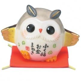 Chouette FUKURO (梟) en porcelaine japonaise RiChESSE (h5cm)