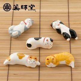 Porte-baguette MANEKi NEKO siesta en porcelaine