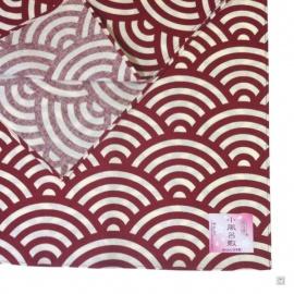 Furoshiki 風呂敷 VAGUES rouge (50x50cm)
