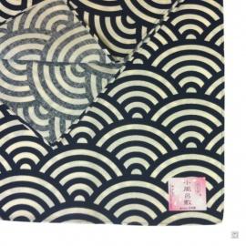 Furoshiki 風呂敷 VAGUES bleu (50x50cm)