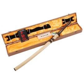 Katana forgé main MOKUZAi 木材 fourreau bois laqué (lame MARU) coffret complet