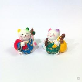 Maneki neko en résine PROSPéRiTé et RiChESSE (h3.5cm)