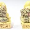 3 sages Hotei en ivoirine (h8cm)