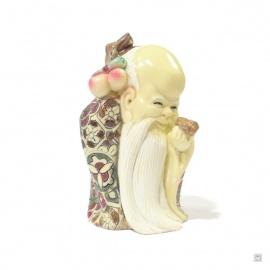 Dieu de la longévité en ivoirine (h9cm)