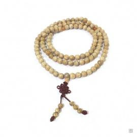 Collier mālā en bois de boddhi 108 perles de 9mm