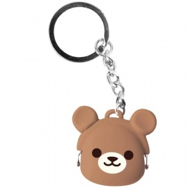 Porte-clés mimi POCHi-Bit Friends KUMA en silicone