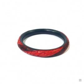 Bracelet FLEURS en laque de Pékin