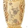 Vase mini FLEURS & OiSEAUX en os de buffle (h9cm)